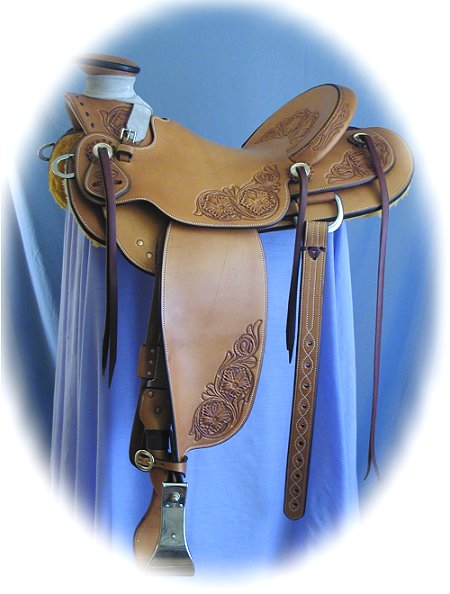 buckaroo wade saddle, hand made by Matt Hillman