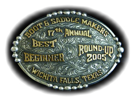 boot and saddlemakers roundup buckle